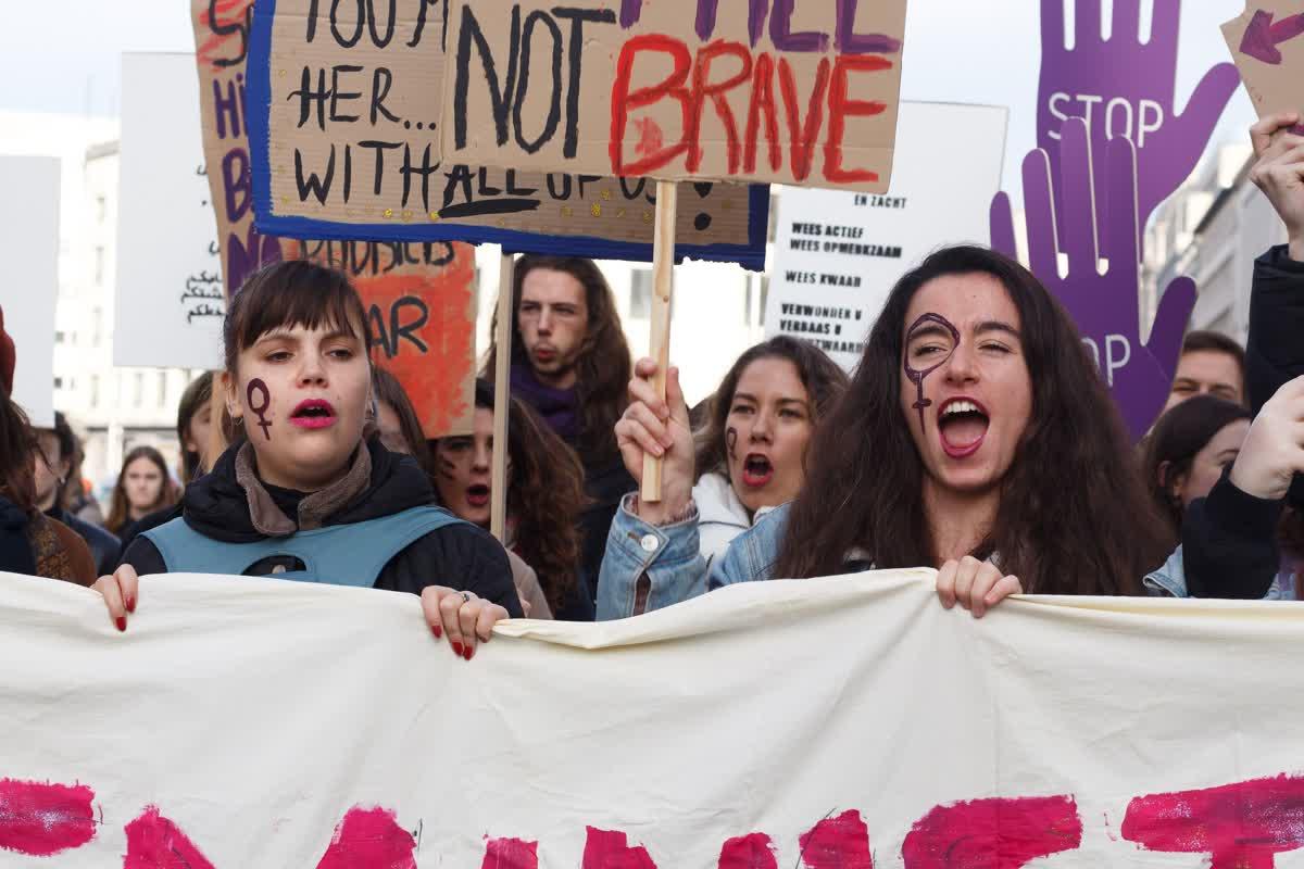 Stop aux violences contre les femmes, bruxelles, 24 novembre 2019  © Shannon Rowies