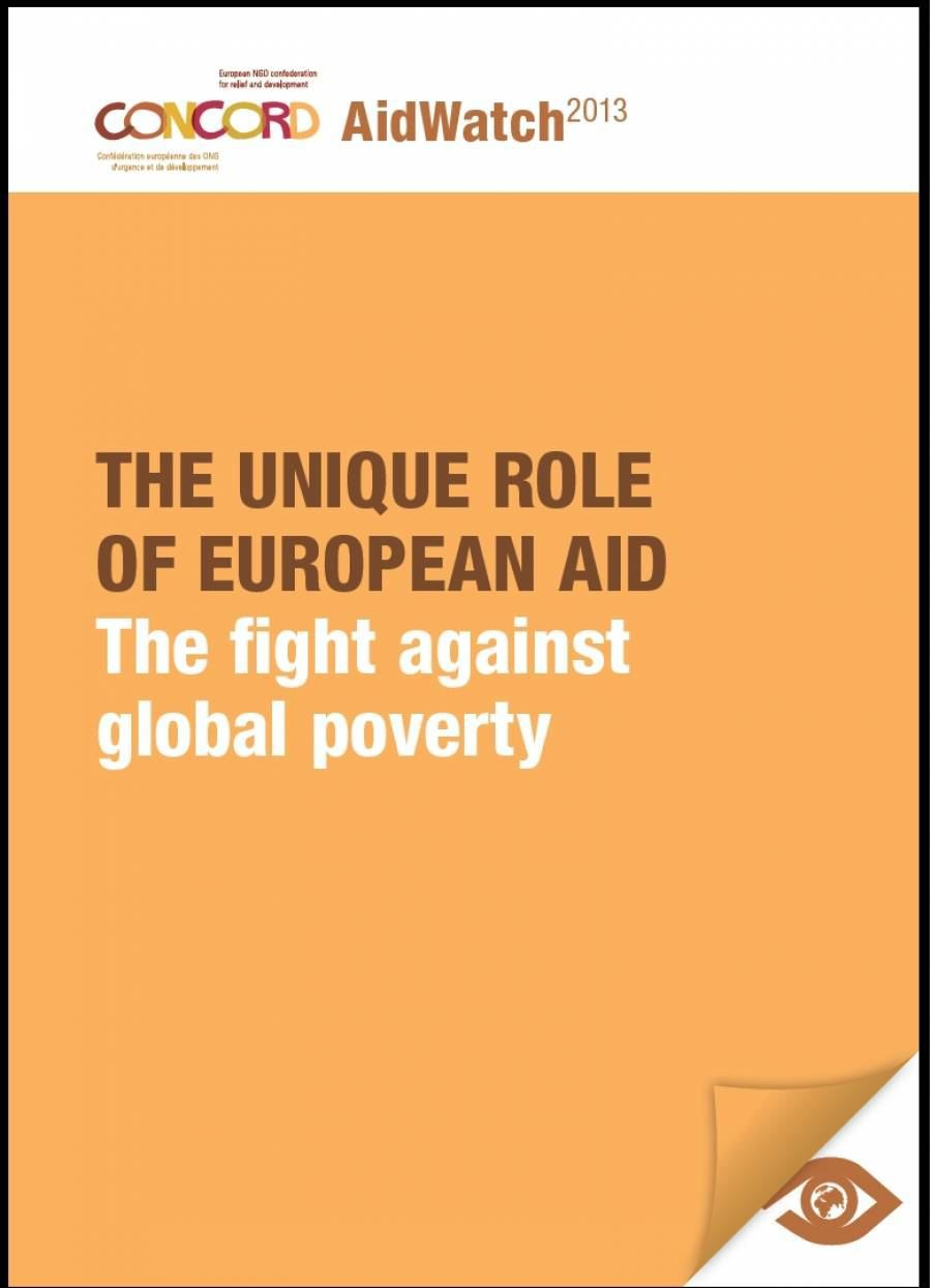 The unique role of European aid, the fight against global poverty