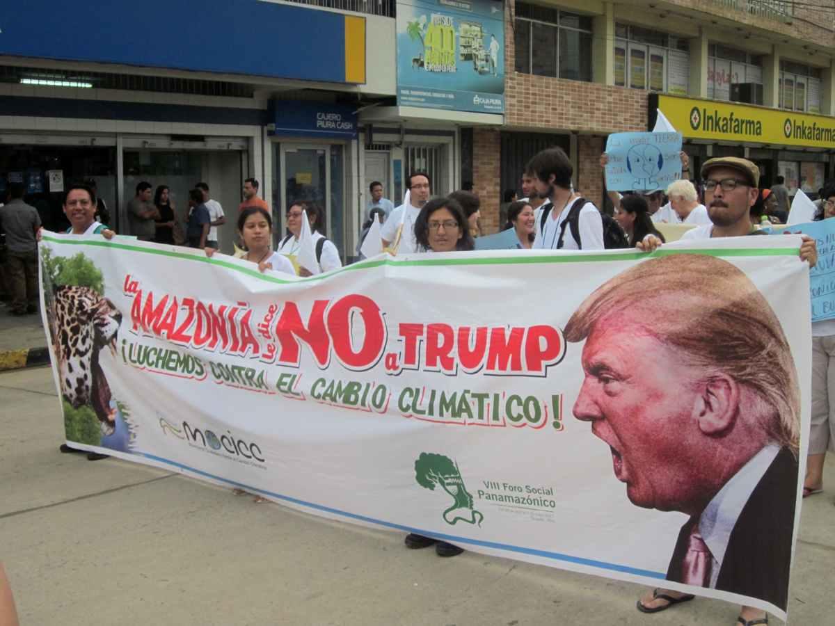 Manifestation au Forum social panamazonien